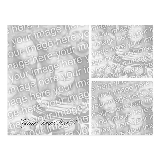 Photo postcard Collage template for three images Zazzle - postcard collage template