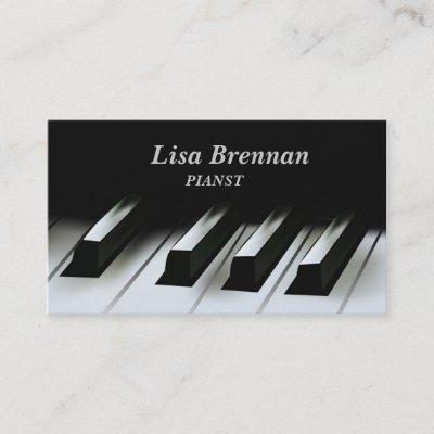 Pianist , Musician , Classics Player Business Card Zazzle
