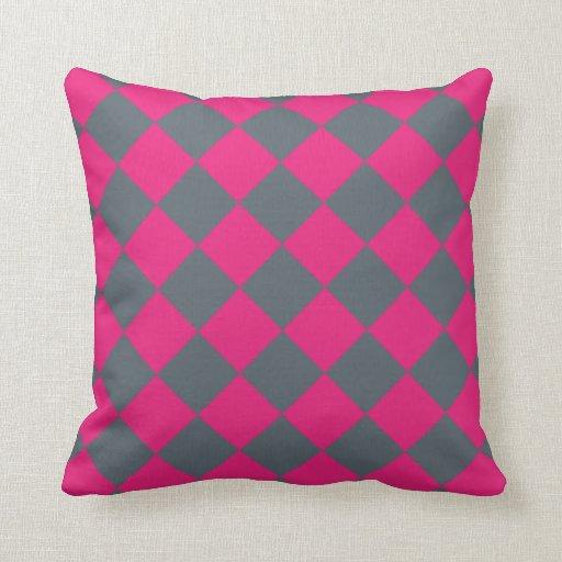 Pink diamond 16 x 16 decorative throw pillow