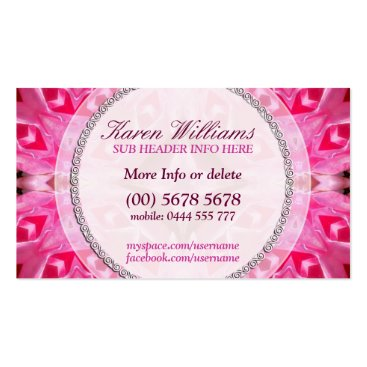 Pink Energy New Age Holistic Business Card