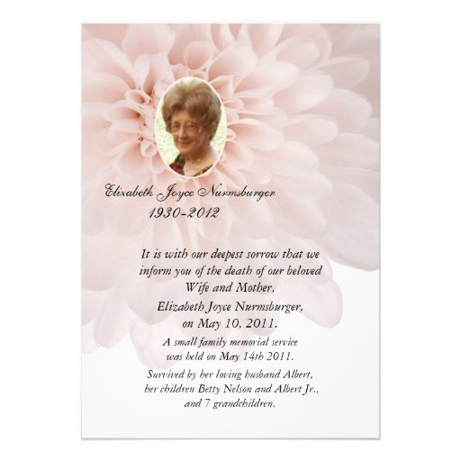 death announcement cards free - 28 images - traditional black and - death announcement cards free