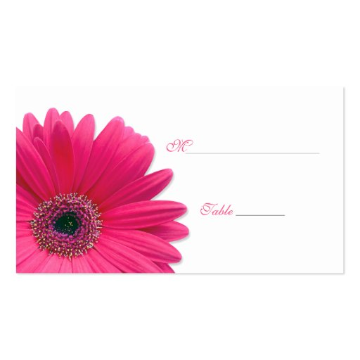 Pink Gerbera Daisy Special Occasion Place Card Business Card