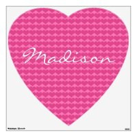 Pink Heart with Name Wall Decals | Zazzle