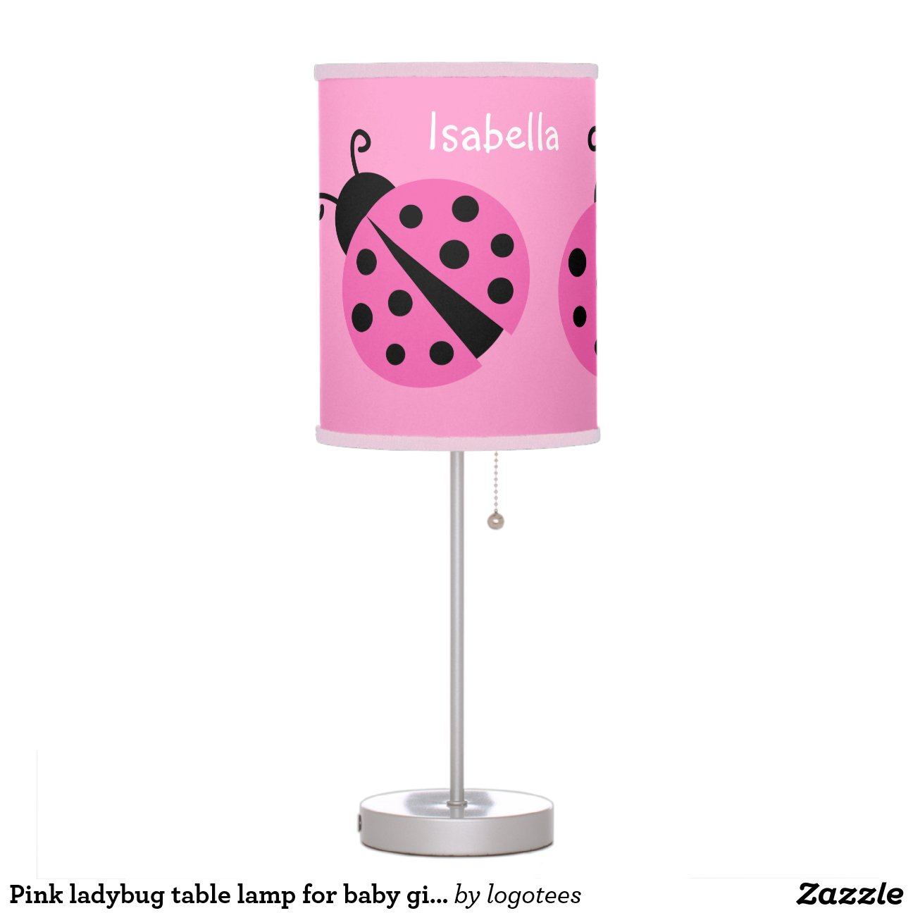 Baby Table Lamps Pink Ladybug Table Lamp For Baby Girl Nursery Room