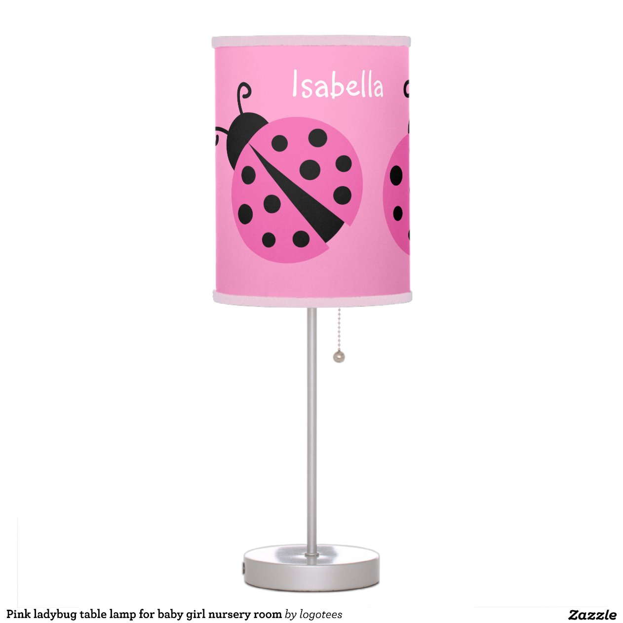 Lamps For Baby Nursery Pink Ladybug Table Lamp For Baby Girl Nursery Room