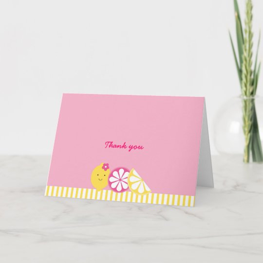 Pink Lemonade Thank You Note Cards Zazzle