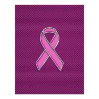 Pink Ribbon Awareness Carbon Fiber Decor Flyer | Zazzle