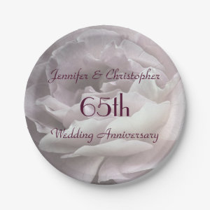 65th Wedding Anniversary Plate Gift Idea Personalized Trending Now