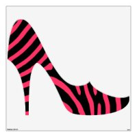 Pink And Black Zebra Stripe Wall Decals & Wall Stickers ...