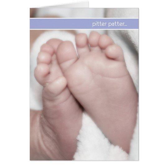 pitter patter pregnancy announcement cards Zazzle