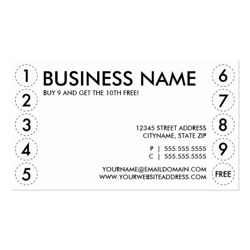 punchcard template