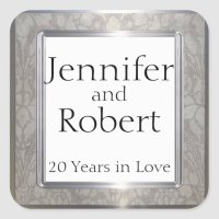 Platinum Rings 20th Anniversary Envelope Seal | Zazzle.com