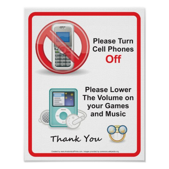 Please Turn Off Cell Phones Office Sign Zazzle - Turn Off Cell Phone Sign