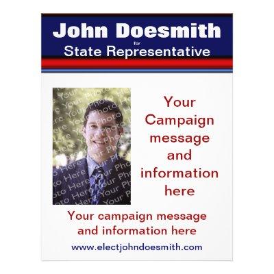 Political Campaign Flyer Template Zazzle - campaign flyer template