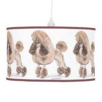Poodle Table & Pendant Lamps   Zazzle
