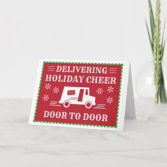 Post Office Postal Worker Holiday Thank You Zazzle