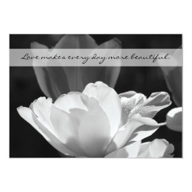 Post Wedding Reception Invitation -- Spring Tulip