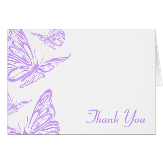 Pretty Purple Butterfly Thank You Zazzle - butterfly thank you cards