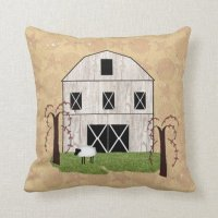 Primitive Barn Throw Pillow | Zazzle