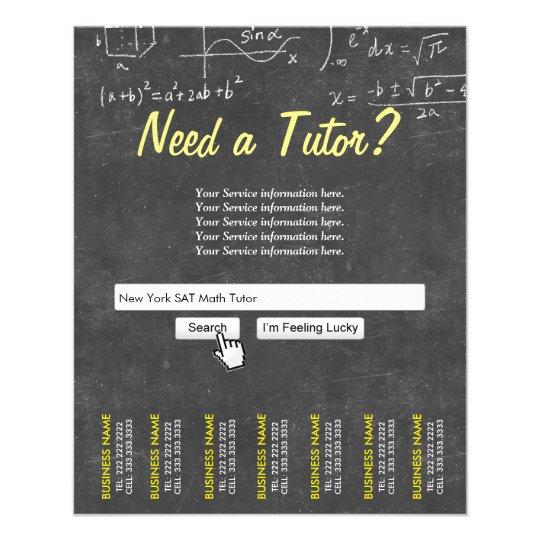 math tutor flyer