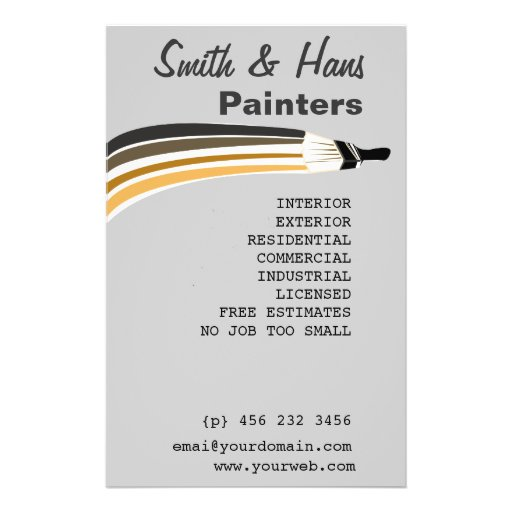 House Painting Contractor Brochure, Postcard, Flyer \ Ads - free resume templates microsoft