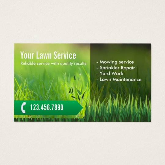 lawn mower business cards template