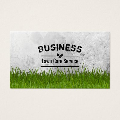 Professional Lawn Care  Landscaping Business Card Zazzle - lawn care business cards