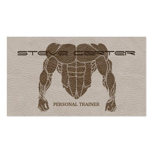 Body builder Business Card Templates BizCardStudio