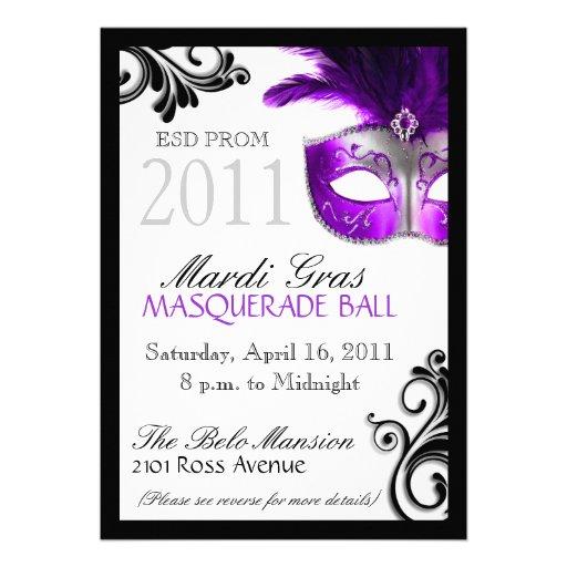 masquerade invite template - Militarybralicious - prom invitation templates