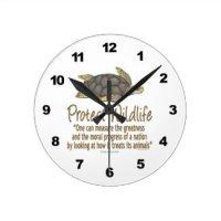 Green Sea Turtle Wall Clocks | Zazzle