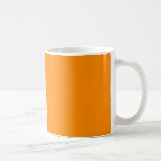 Pure Bright Orange Customized Template Blank Coffee Mug Zazzle