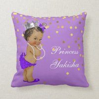 Purple Vintage Ethnic Princess Baby Gold Confetti Throw ...