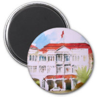 Raffles Hotel , Singapore 2 Inch Round Magnet