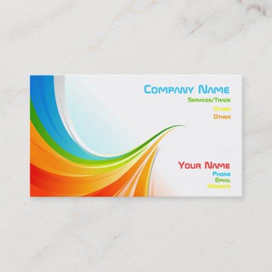 Rainbow business card Zazzle