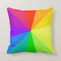 Rainbow Colors Art Throw Pillow | Zazzle