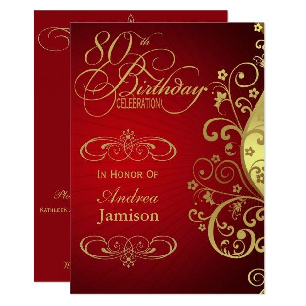 red birthday invitations