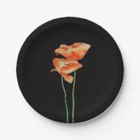 Red Poppy Plates | Zazzle