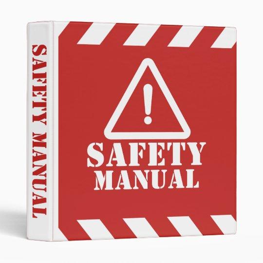 Red Safety Manual Binder