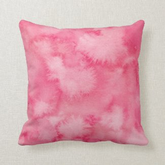 Red Watercolor Wash Pillow