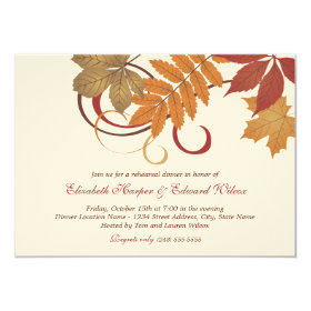 Rehearsal Dinner Invitation | Autumn Fall Theme