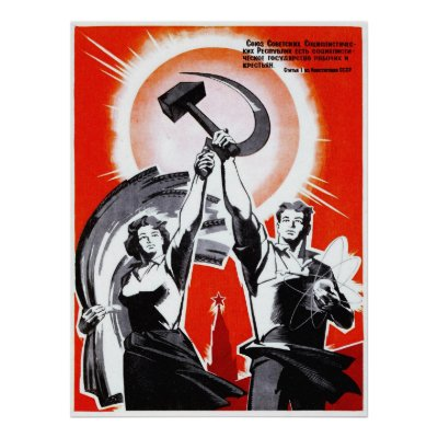Reprint of an Old Soviet Russian Propaganda Poster Zazzle