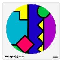 Retro 80s Color Block Wall Decal | Zazzle