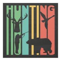 Retro Hunting Panel Wall Art   Zazzle