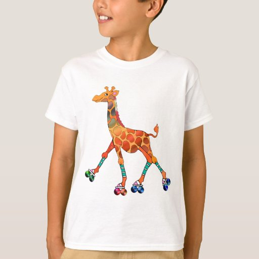 Roller Skating Giraffe T