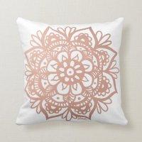 Rose Gold Mandala Throw Pillow | Zazzle