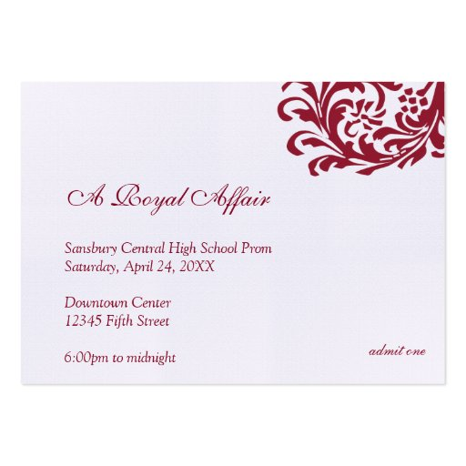 Formal Event Ticket Template bigking keywords and pictures - prom ticket template