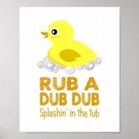 Rubber Duck Baby Wall Art | Zazzle.com
