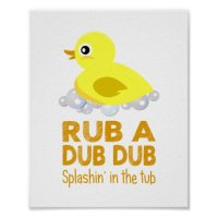 Rubber Duck Baby Wall Art Posters | Zazzle