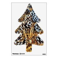 Rustic Country Pine Cones Tree Wall Decal | Zazzle