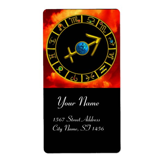 SAGITTARIUS ZODIAC BIRTHDAY JEWEL Astrology Chart Label Zazzle